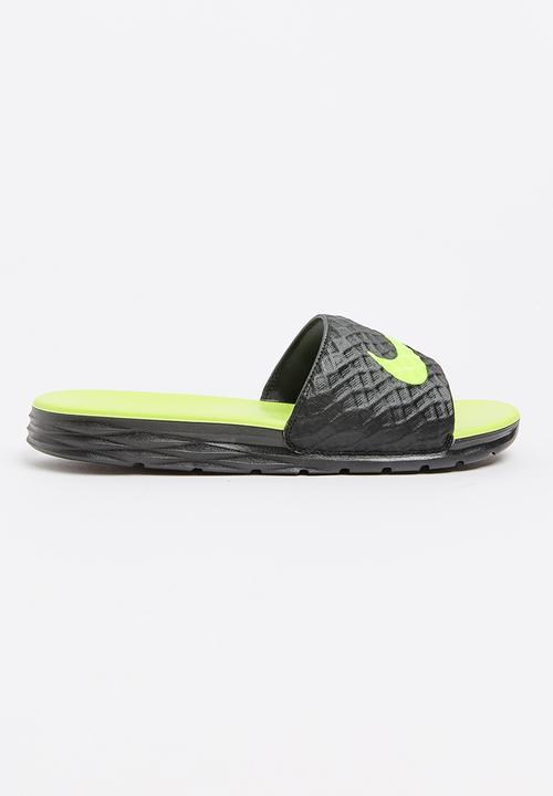 3f7757d1ba33 Nike Benassi Solarsoft Slide Sandal Black Nike Sandals   Flip Flops ...