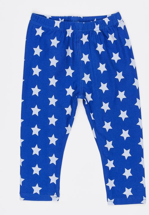 04c4aca8e22fa Star Printed Leggings Blue POP CANDY Pants & Jeans | Superbalist.com