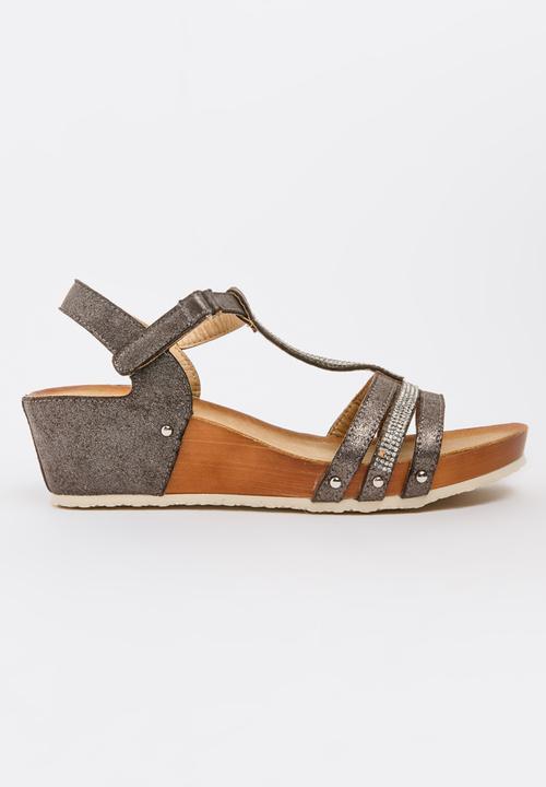 188d068d9e64 Hayden T-bar Wedges Dark Grey Butterfly Feet Heels | Superbalist.com