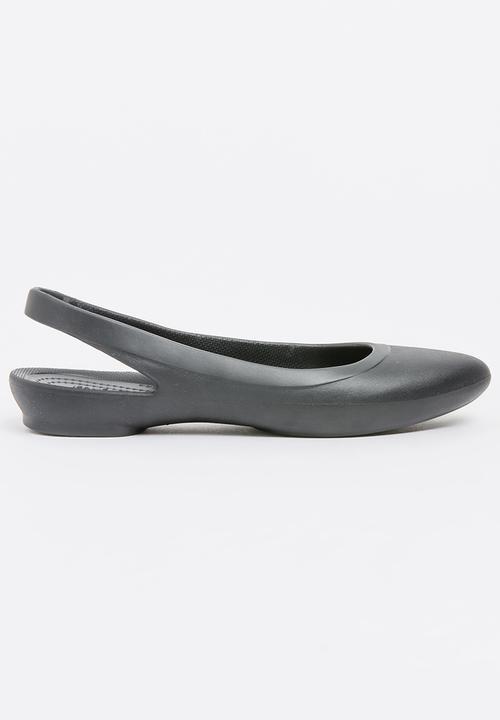 2781aa8598c203 Eve Slingback Black Crocs Pumps   Flats
