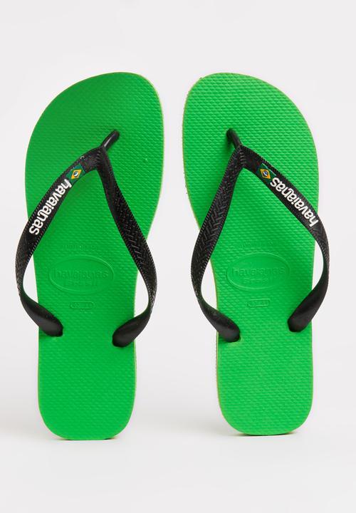 d872528f9beb4 Brazil Logo Flip Flops Green Havaianas Sandals   Flip Flops ...