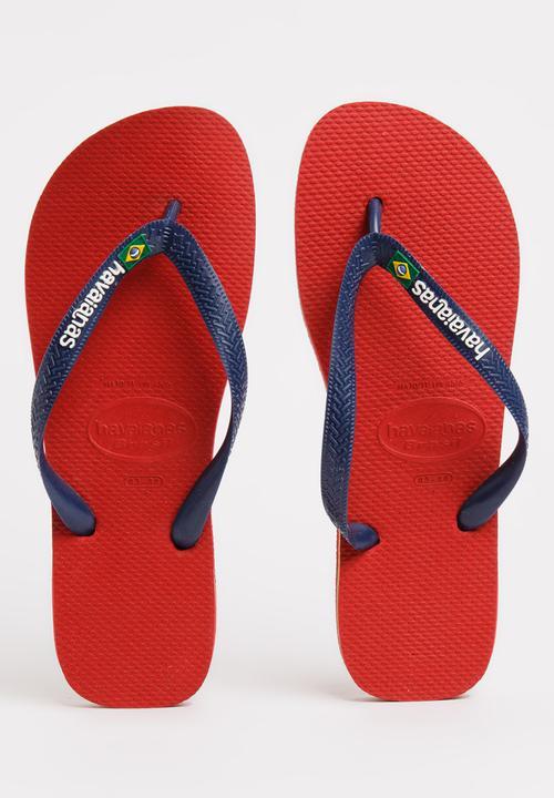 d83fe3f25966a3 Brazil Logo Flip Flops Red Havaianas Sandals   Flip Flops ...