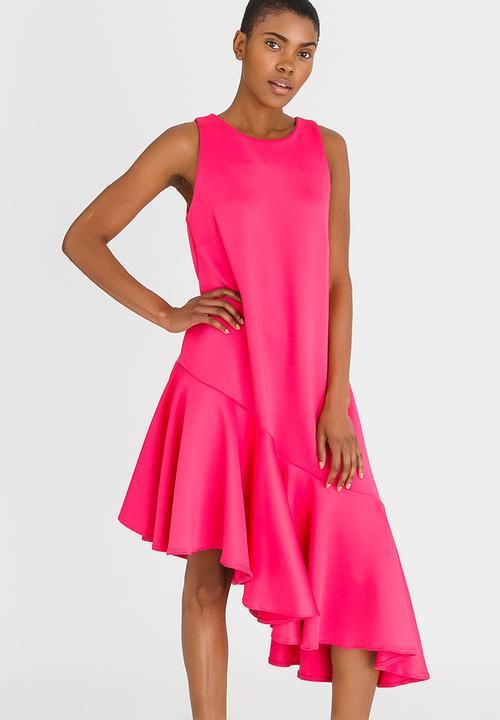60f7ddf22902 Asymmetrical Dress Magenta STYLE REPUBLIC Formal