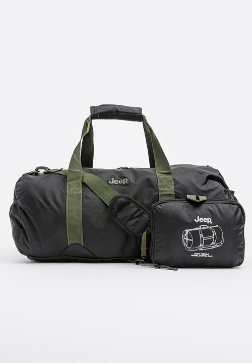 45Lt Lightweight Fold Up Travel Duffel Bag Black JEEP Bags   Wallets ... 3e616c4a38151