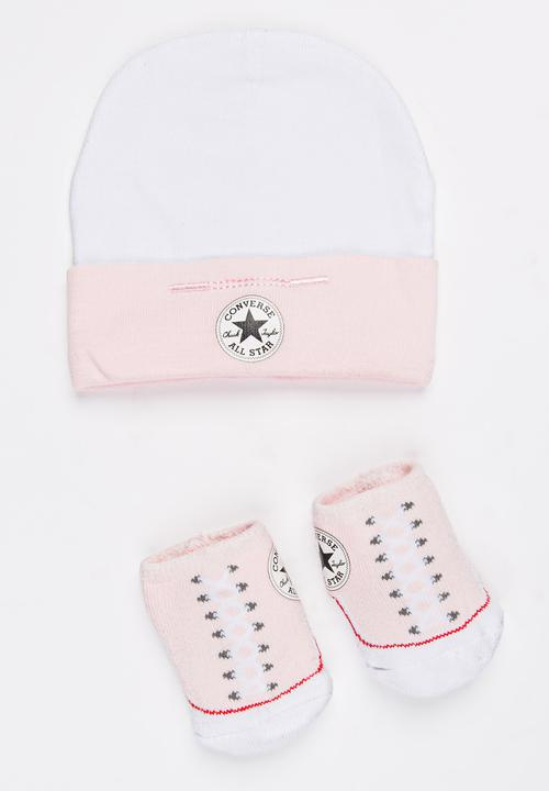 2 pack Hat   Booties set Pale Pink Converse Accessories ... 13c063aa4592