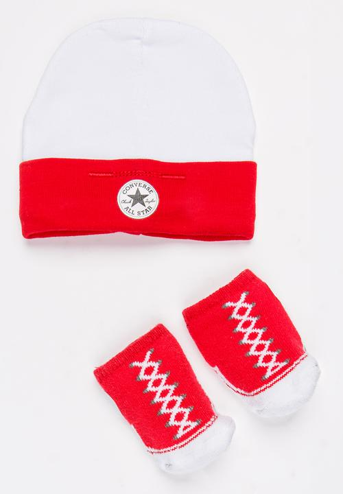 2 pack Hat   Booties set Red Converse Accessories  77df0fa753