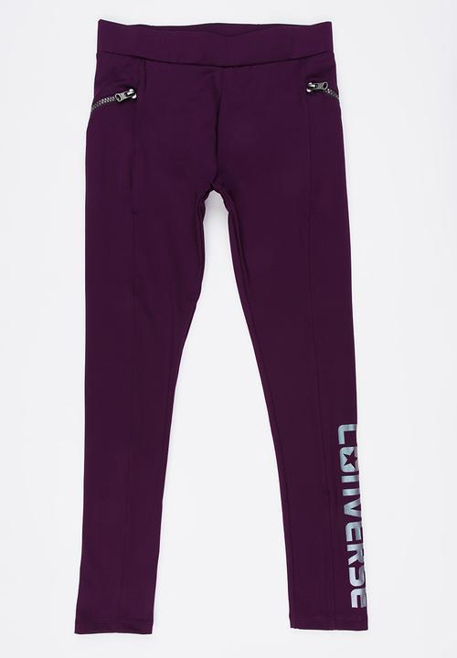 406e0209eea0 Iridescent Zipper Leggings Mid Purple Converse Pants   Jeans ...