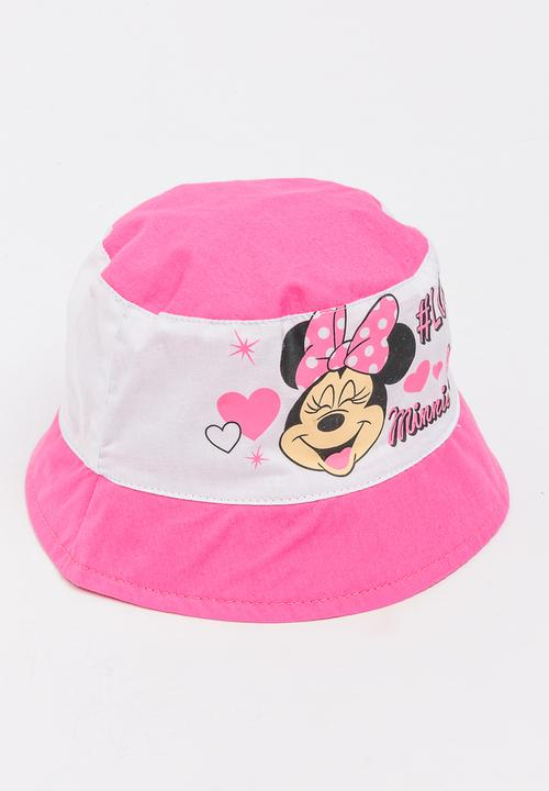 Minnie Mouse Bucket Hat Dark Pink Character Baby Accessories ... 49b6125ba98
