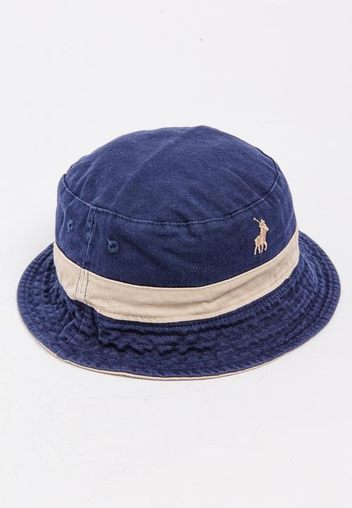 c196d6f4ac5 Twill Reversible Bucket Hat Stone POLO Headwear