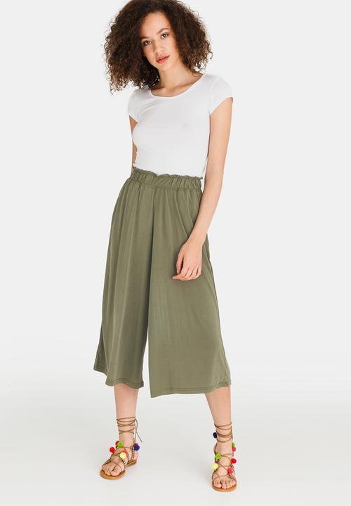 Großhandel Metti Culotte Pants Khaki Green