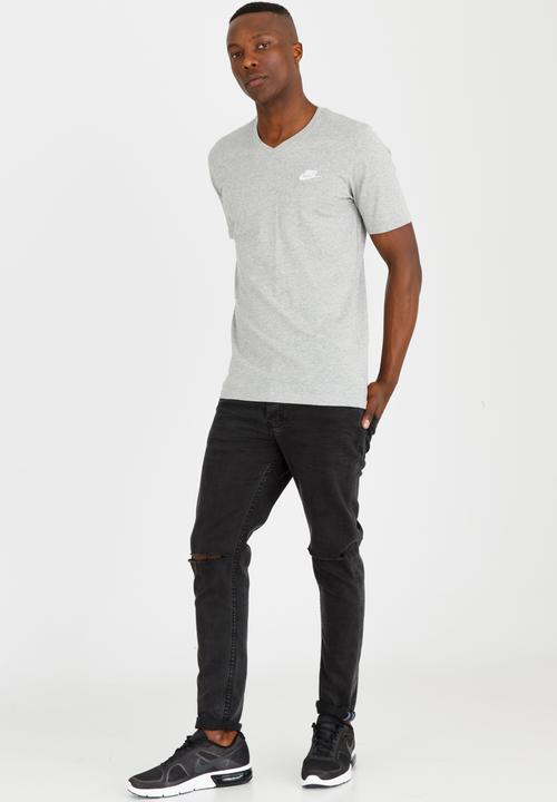 NSW Tee Vnk Club Embrd Ftra Pale Grey Nike T-Shirts  21d5d10ba45de