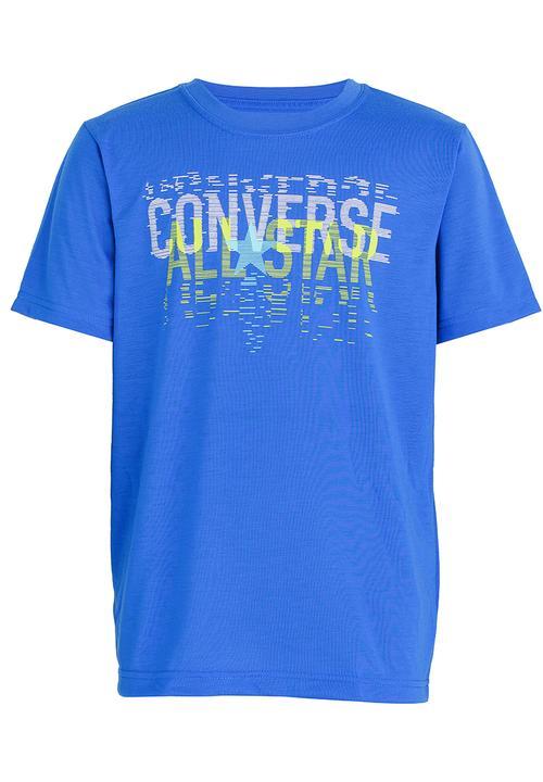 dd626b3a9d12 Linear All Star Tee Blue Converse Tops