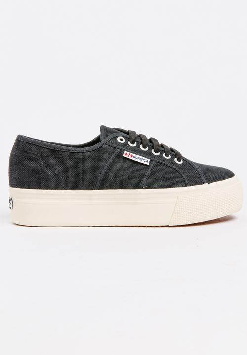 2790 Classic Wedge Black and White SUPERGA Sneakers  5fd9a49bac2
