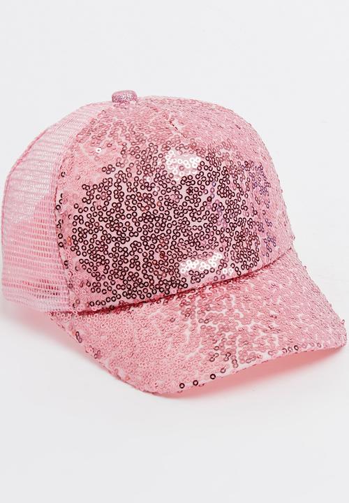 c3b7455f3927 Sequins Detail Cap Pale Pink STYLE REPUBLIC Fashion Accessories ...