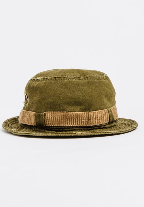 Bucket Hat Dark Green JEEP SPIRIT Headwear  2e6897a4da9