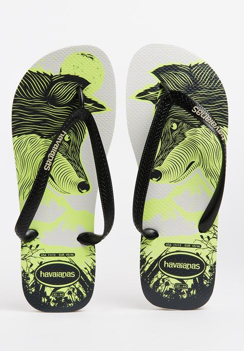 8c46f92bb7f3b7 4 nite - white black phospho Havaianas Sandals   Flip Flops ...