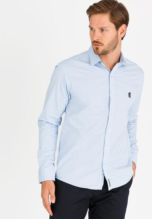 eb73f8950 Niall Styled Shirt Blue Pringle of Scotland Shirts