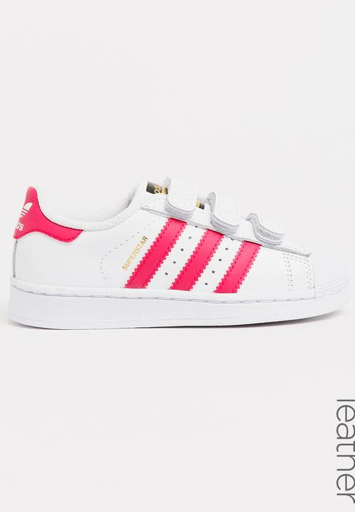 3c78b5206 Superstar foundation sneaker - white and pink adidas Originals Shoes ...