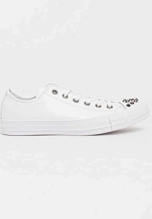 c1a8ed4a4a99 Chuck Taylor All Star Studded Lo Sneakers White Converse Sneakers ...