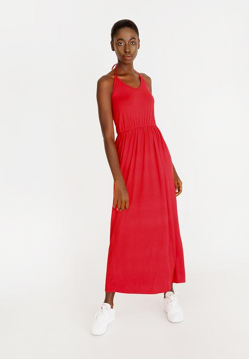 ff1a52ae4a V-neckline Maxi dress Red c(inch) Casual | Superbalist.com