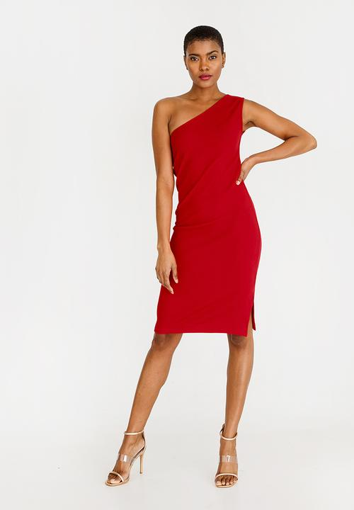 0c17db6de32 One Shoulder Bodycon Dress Red STYLE REPUBLIC Formal