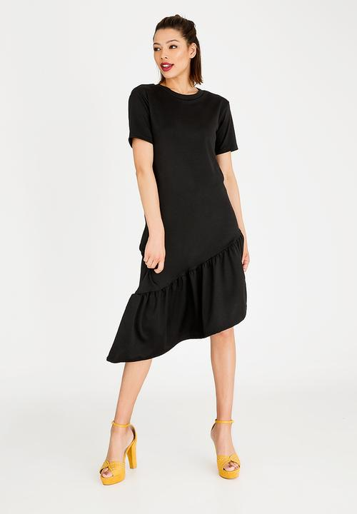 e77b030b3a4b Frill Detail T-Shirt Dress Black STYLE REPUBLIC Casual   Superbalist.com