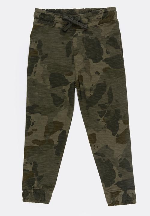 53c5efef47f Army Distressed Camo Jogger Multi-colour MINOTI Pants & Jeans ...