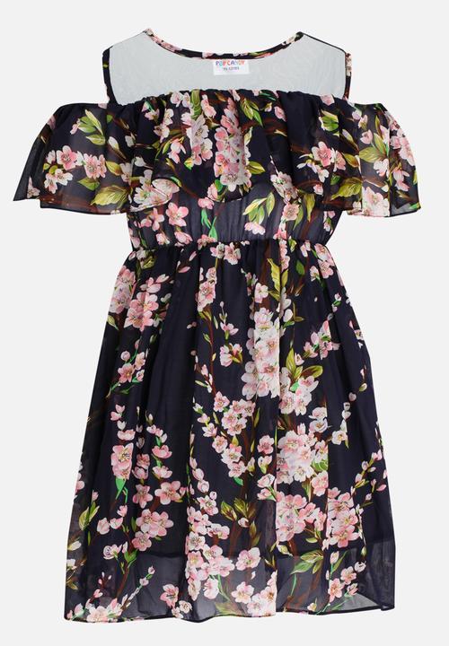1dea17bdfa3 Floral printed flounce dress - multi-colour POP CANDY Dresses ...