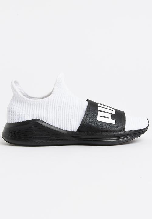 Fierce Slide Sneakers Black and White PUMA Trainers  9bf2ce586