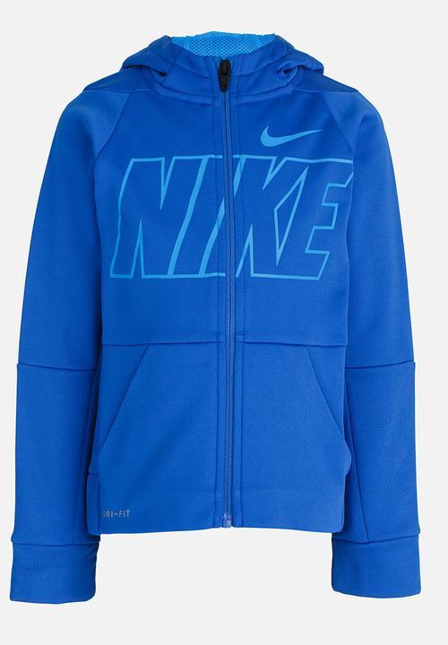 a11634be513dd Nike Therma GFX PO Hoodie Blue Nike Jackets & Knitwear | Superbalist.com