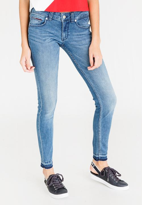 05a4e6db Sophie Low Rise Skinny Jeans Mid Blue Tommy Hilfiger Jeans ...