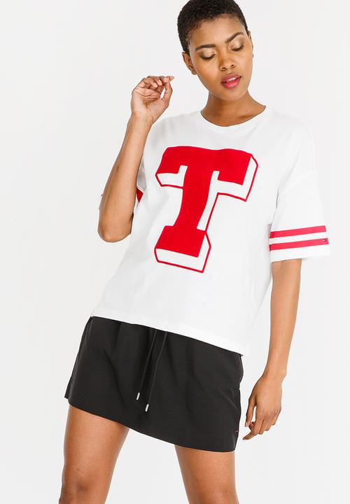 6cb3a16fa Basic Short Sleeve Tee White Tommy Hilfiger T-Shirts, Vests & Camis ...