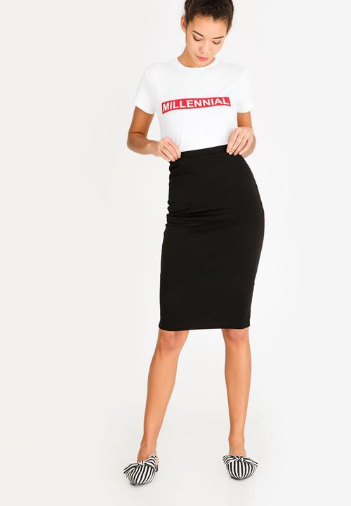 2294bf156dc3 Basic Bodycon Skirt Black c(inch) Skirts