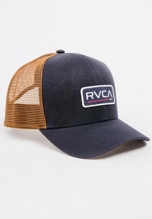43345e49bc7 Boys Ticket Trucker II Cap Navy RVCA Accessories