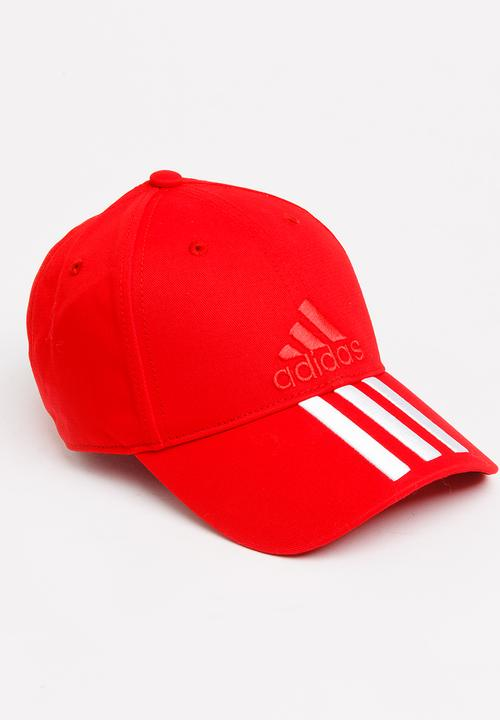 top quality huge discount release info on 3 Stripe Cotton Cap Red