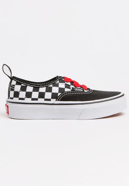 e5d0a08278c Kids Vans Authentic elastic lace - black/red/white Vans Shoes ...