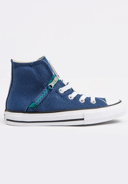 cbc20037a089 Chuck Taylor All Star Pull Zip Sneaker Blue Converse Shoes ...