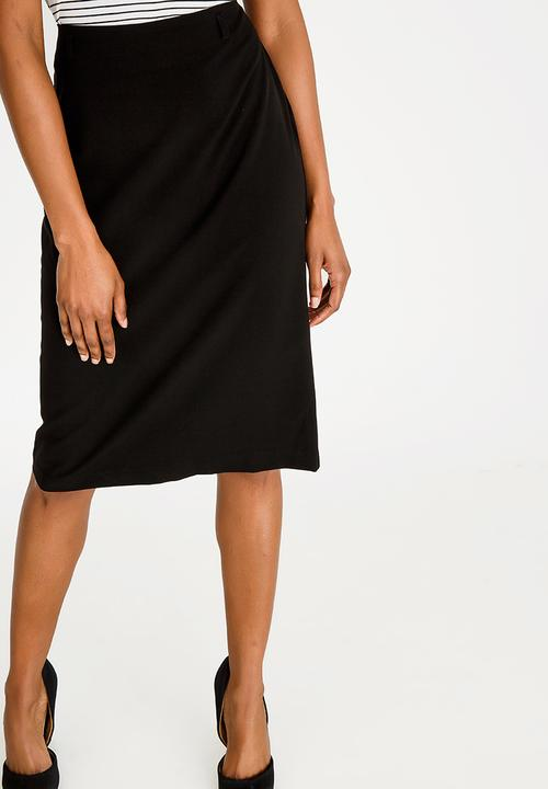 Pencil skirt with back zip closure - black edit Skirts  c58a0e1cd54