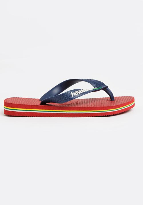 82cce92c48ee40 Brazil logo sandals - red Havaianas Shoes