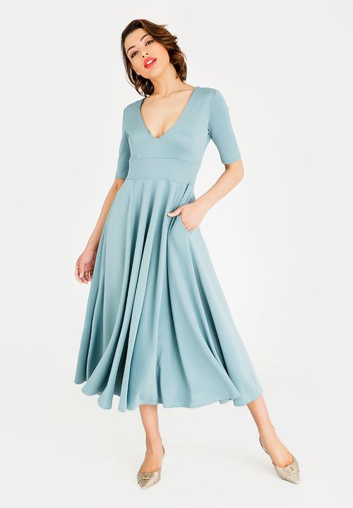 42a338136213 Volume Fit and Flare Maxi Dress Mint STYLE REPUBLIC Formal ...