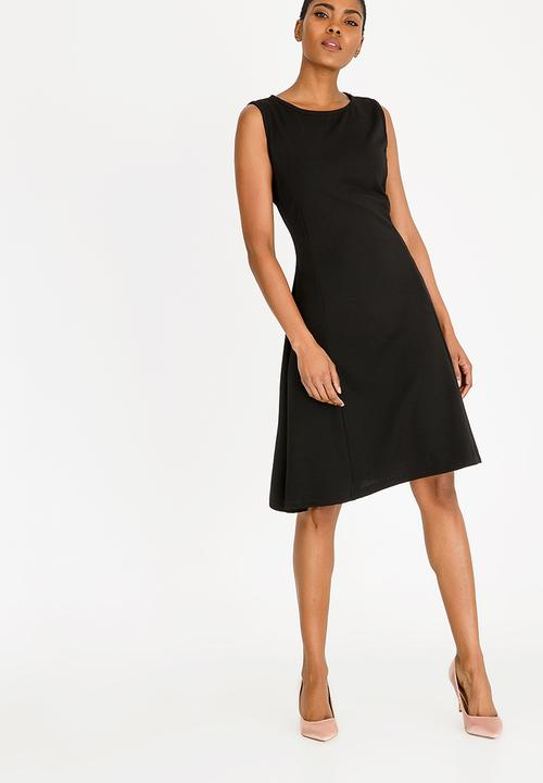 Fit And Flare Midi Dress Black Edit Casual Superbalist