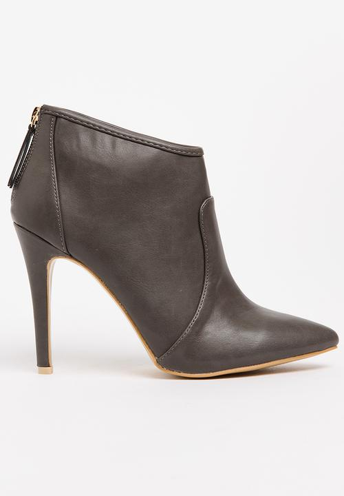 ad81636be1a High Heel Ankle Boots Dark Grey Jada Boots