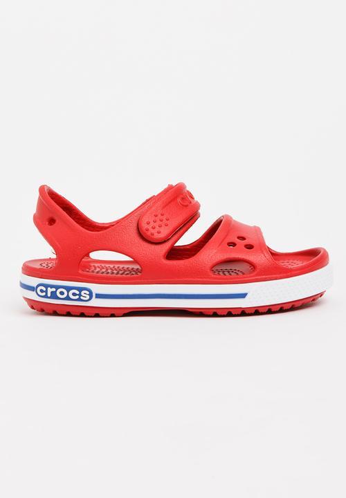 75bbd2c084560 Crocband Sandal Red Crocs Shoes