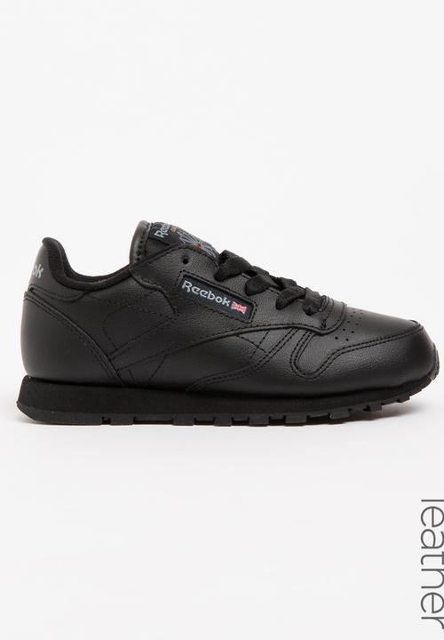 c5bfcbbb332e1 Kids reebok classic leather - black-1 Reebok Classic Shoes ...