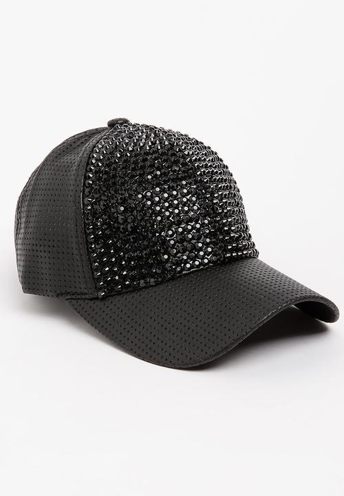 424f3f841bda Diamante Studded Cap Black STYLE REPUBLIC Fashion Accessories ...