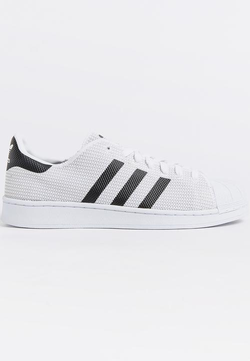 Adidas Superstar 2 Tone Knit Sneakers White