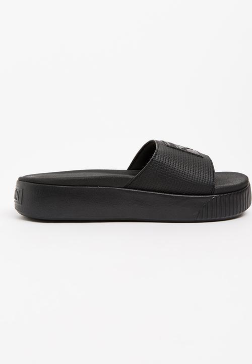 dc91810a64ef Platform Slides Black PUMA Sandals   Flip Flops