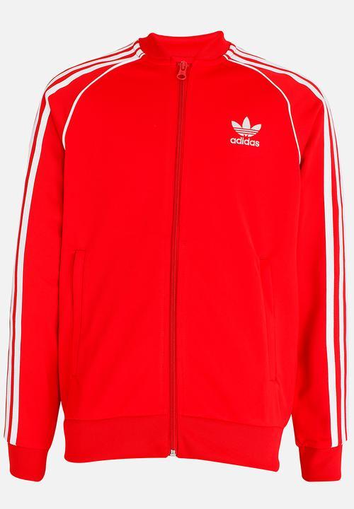 J SST Top Red adidas Originals Jackets   Knitwear  8c9b1728147d