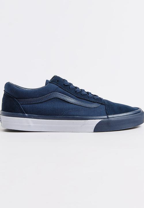 31fdace7568d16 Old Skool Mono Bumper Sneakers Mid Blue Vans Sneakers