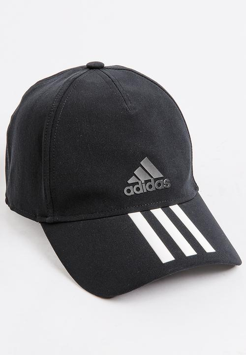 eb03c03ee79 adidas Performance - C40 6 Panel 3-Stripes Climalite Cap Black and White